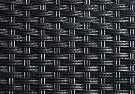 mimbre: Negro con textura de superficie de cuerdas de nylon entrelazado Foto de archivo