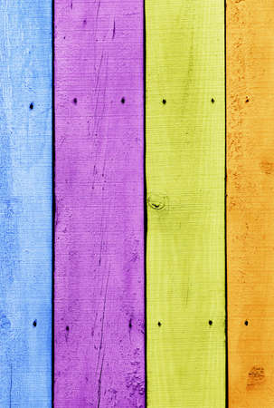 Background of old wooden planks painted with vivid colors photo