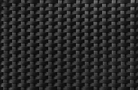 interlace: Black textured surface of interlaced nylon strings Stock Photo