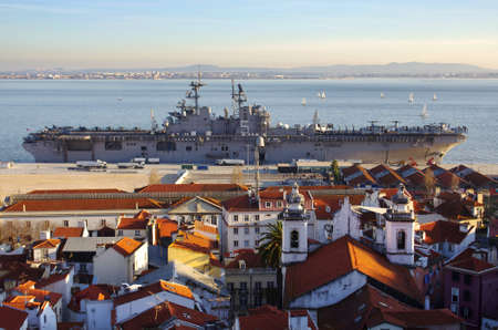 LISBON - JAN. 21: After a 10 months in the Persian Golf, USS Bataan (LHD 5) is docked in a Lisbon port, prior retourning to the US, on January 2, 2012 in Lisbon - Portugal.