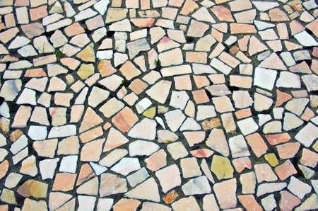 Background of typical portuguese walkway pavement photo