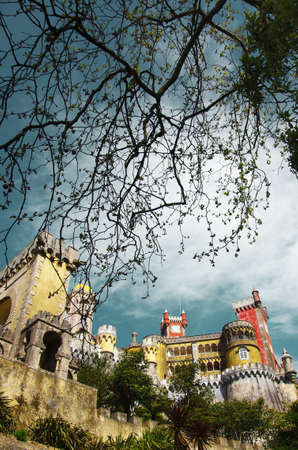 patrimony: View of the Pena Palace in Sintra National Park, Portugal