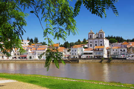 riverside tree: View of the typical town of Alcacer do Sal in the Alentejo region of Portugal
