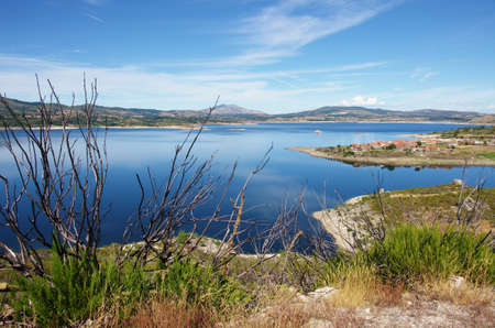 Beautiful countryside landscape with a lake in the north of Portugal photo