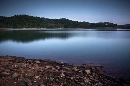 bode: beautiful and serene Zezere river scenic in Portugal