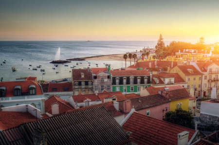High view of the beautiful town od Paco dArcos in Portugal