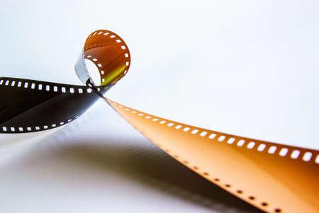 Detail der Rolle unentwickelten Fotofilms aus dem Kanister