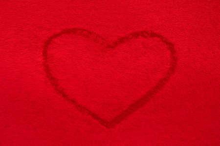 赤い背景に赤いハート