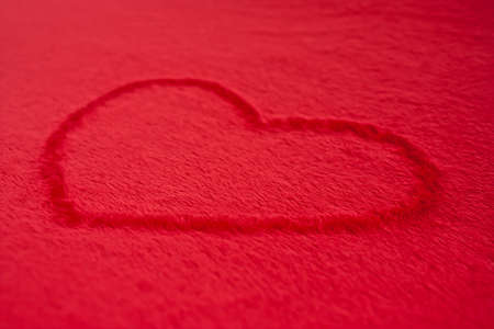 Red Heart on a Red Background Imagens