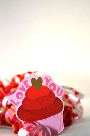 love you valentine label isolated onwhite close up