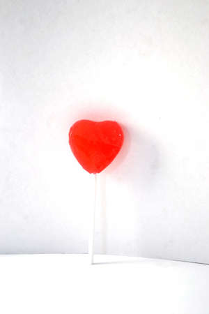 heart lollipop isolated on white background