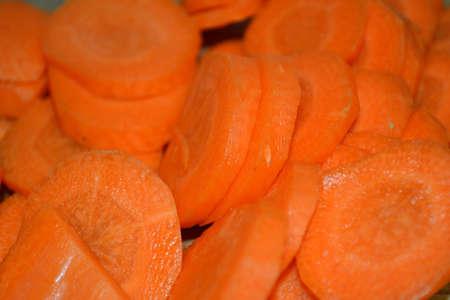 rodajas de zanahoria de cerca