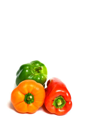 peppers isolated on white background
