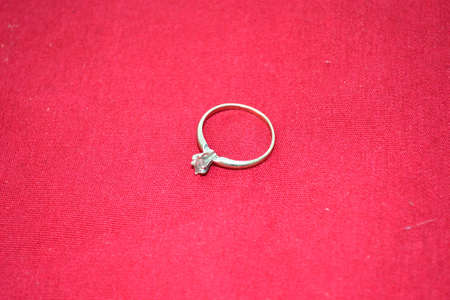 jewellery isolated on red background