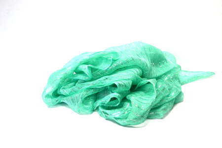 green scarf isolated on white background