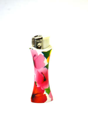 decorated lighter isolated on white background close up Stok Fotoğraf