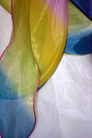 Rainbow ribbon background isolated on white Stock Photo