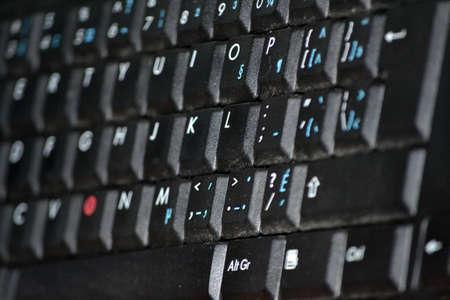 Black keyboard closeup Stock Photo