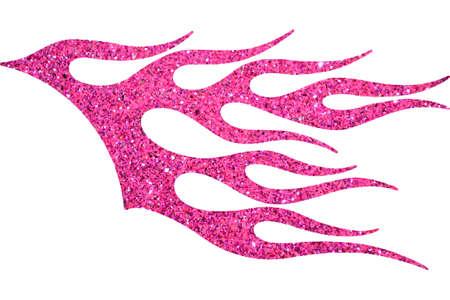 Pink llama decorativa brillo aislado en fondo blanco