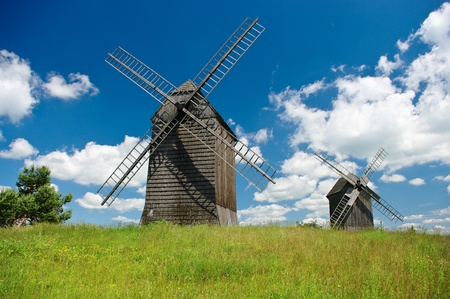 Two windmills photo