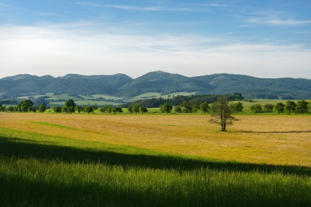 Hills scenery Stock Photo