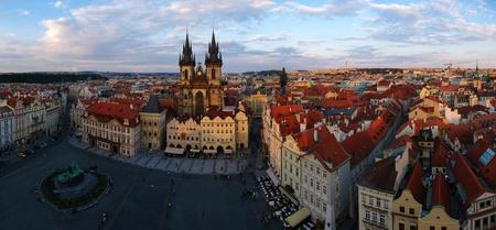 Prague market panorama Stock Photo