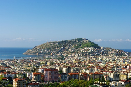 Alanya city from hills photo