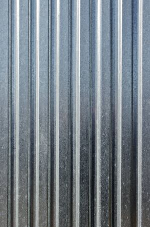 Striped metal sheet for background texture photo