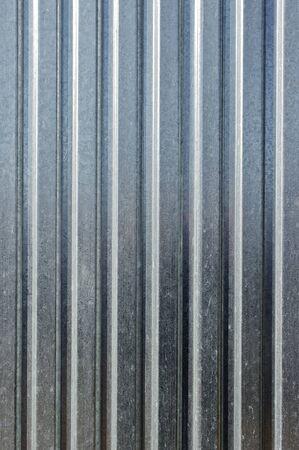sheet iron: Striped metal sheet for background texture Stock Photo