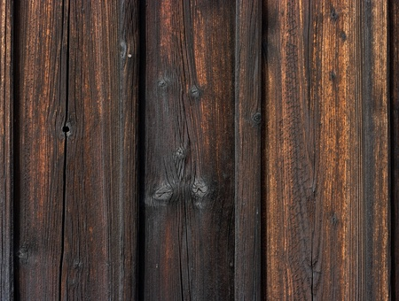 Wooden wall with burned boards Stock Photo