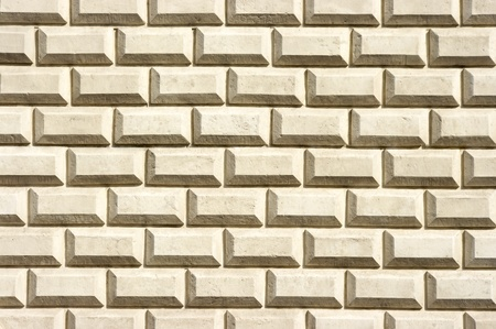 Wall for background texture with creamy bricks photo
