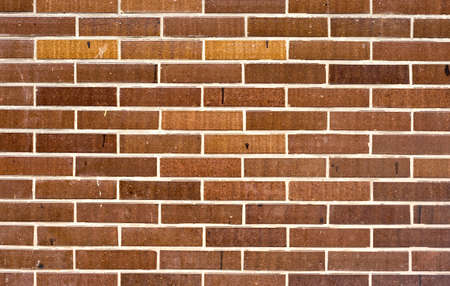 Wall texture for background with brown-orange bricks Stock Photo - 9190309