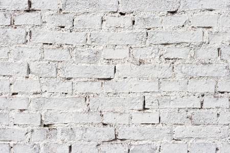 Texture of wall with white bricks photo