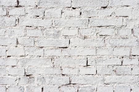 brick clay: Texture of wall with white bricks