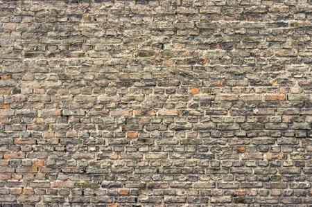 Wall with aged bricks