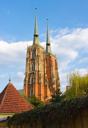 Cathedral in Wroclaw on Tum Island, Poland photo