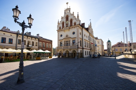 Marketplace in Rzeszow, capital city of carpathians region, Poland