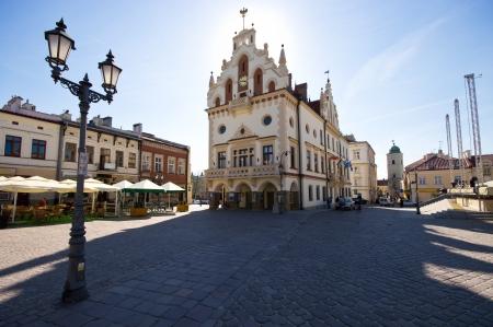 Rzeszow, carpathians 지역, 폴란드의 수도 인 마켓 플레이스 스톡 콘텐츠