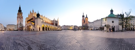 city square: City square in Krak�w, Poland Stock Photo