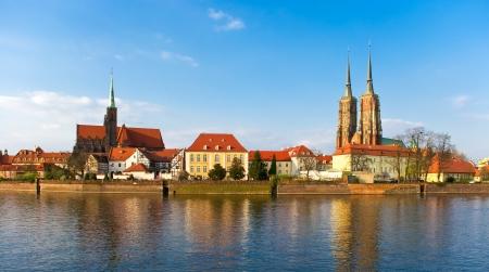 Tum island in Wroclaw, Poland