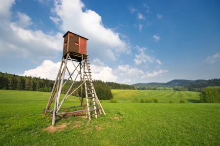 deer hunting: Hunting tower