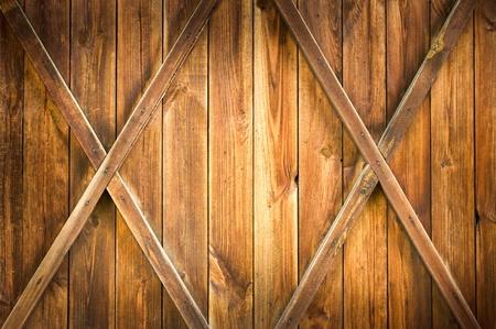 Wooden door with two crosses photo