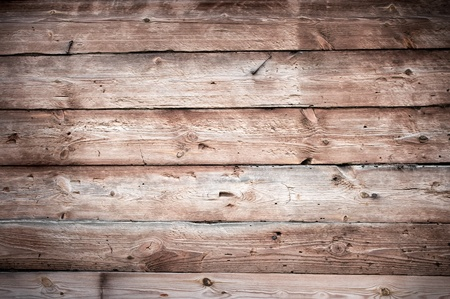 Wooden wall texture with horizontal boards photo