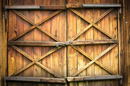 Wooden door with four crosses Reklamní fotografie