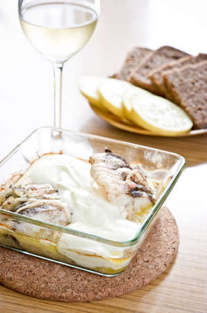burbot: Traditional polish burbot in cream