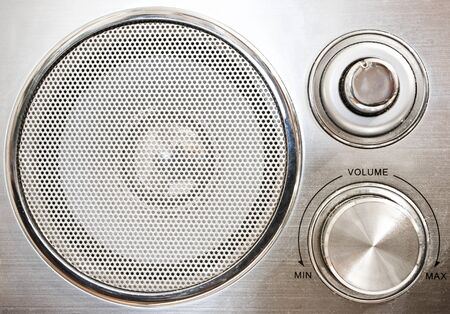 Front panel of old stylized radio photo