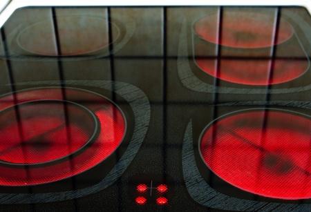 Burners of eletric oven photo