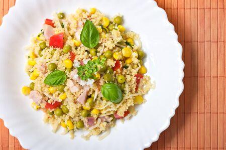 Kuskus salad with smoked chicken Stock Photo - 11283605