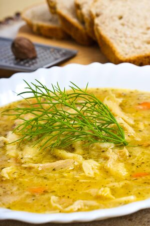 Traditional polish tripe soup photo