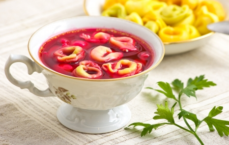 Traditional christmas borscht with dumplings Stok Fotoğraf - 11560269